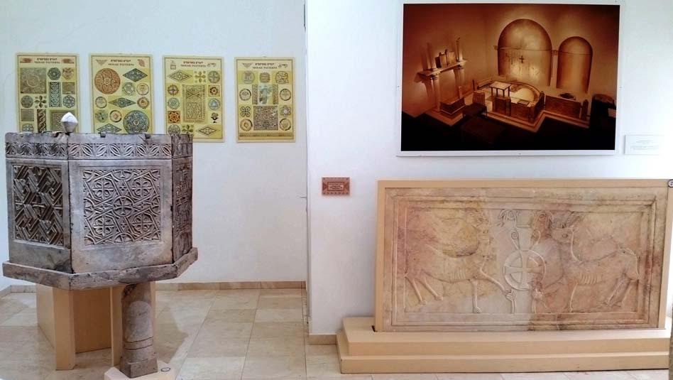 מימצאים ארכיאולוגיים והיסטוריים במוזיאון השומרוני הטוב. צילום שוש להב