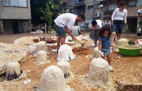 פעילות יצירה משפחתית בעיר לוד: זומו המפתן עם אמנות עד פתח הבית