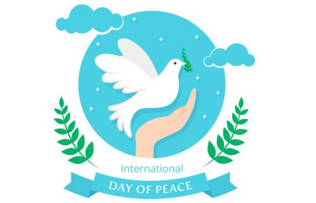 יום השלום הבינלאומי נחגג מידי שנה ב- 21 בספטמבר